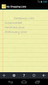 My Shopping Lists 1.1.3 screenshot 0