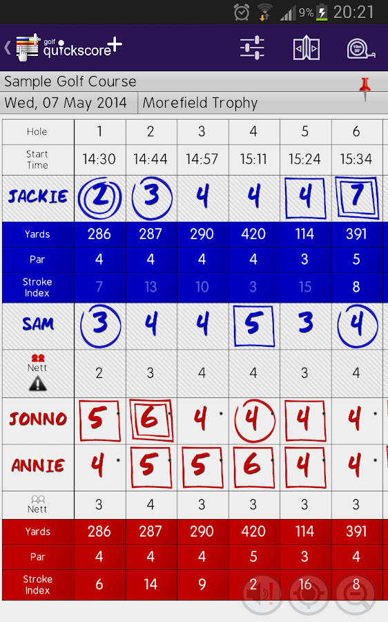 Golf Quickscore+- screenshot