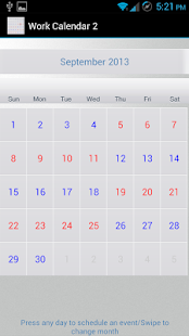 Work Calendar 2 (for Penford)- screenshot thumbnail