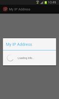 Screenshot of My IP Address