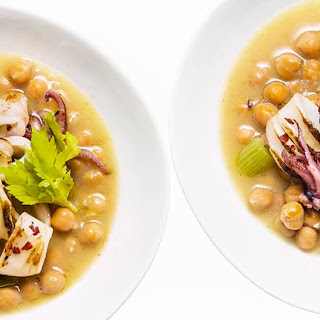 Squid with Chickpeas and Celery Recipe