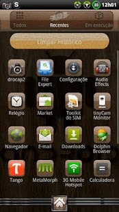 Theme Woodroid GO Launcher EX - screenshot thumbnail