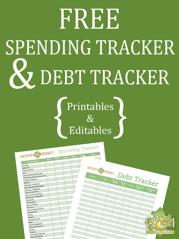 Free spending tracker and free debt tracker printable pdf and excel worksheet