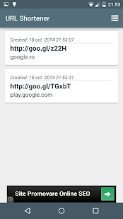 URL Shortener (goo.gl) - screenshot thumbnail