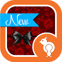 Red Rose Lace GO SMS Theme icon