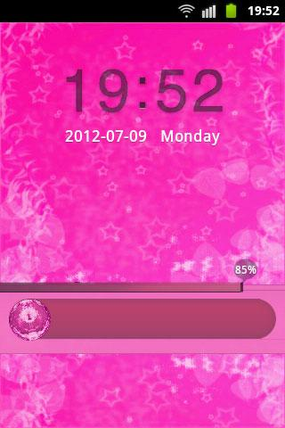 GO Locker Theme Pink Cute Star - screenshot