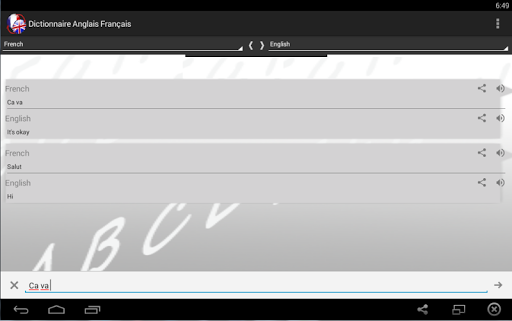 Dictionnaire Anglais Franu00e7ais 2.0 screenshots 7
