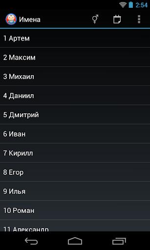 Популярные русские имена
