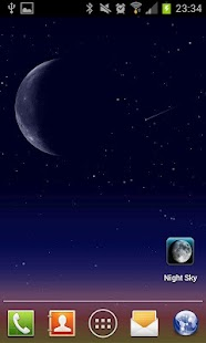 Night Sky LITE Live Wallpaper - screenshot thumbnail