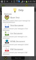 Screenshot of SMS to PDF