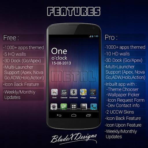 Metal Free(APEX NOVA GO THEME) 1.5.0 screenshots 10