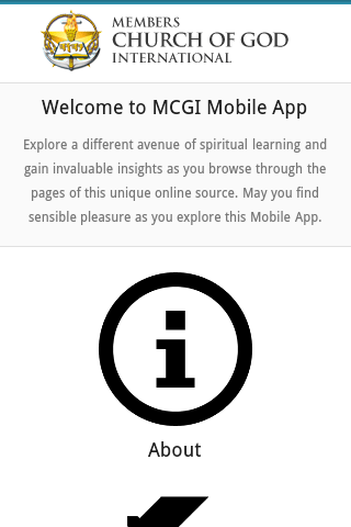 MCGI App- screenshot