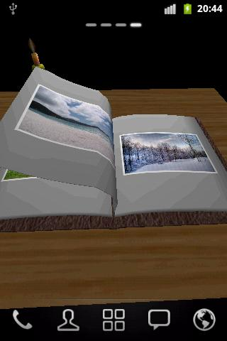 Photo Book 3D Live Wallpaper- screenshot