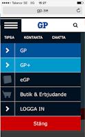 Screenshot of GP
