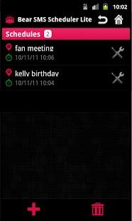 SMS Scheduler Lite- screenshot thumbnail