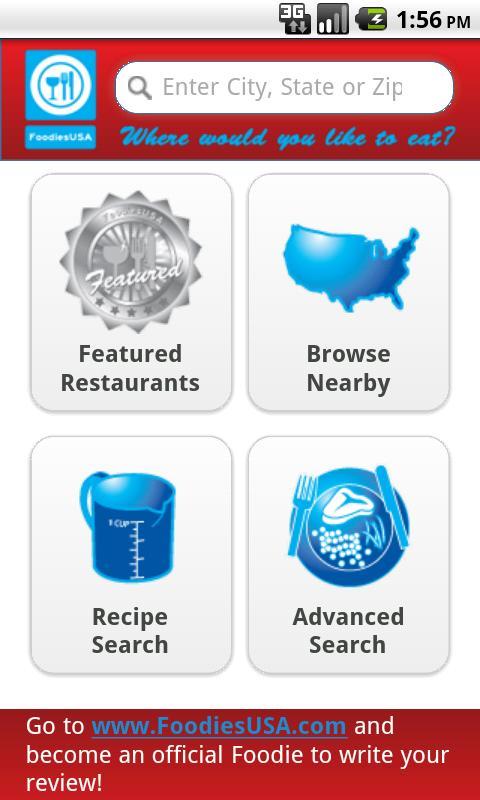 Foodies USA- screenshot