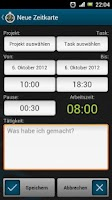 Screenshot of TimeTracker - Time Recording