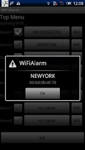 Wireless LAN Wi-Fi Train Alarm screenshot 1