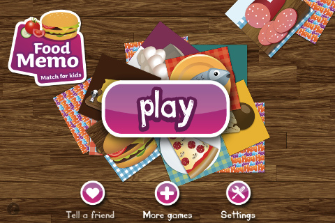 Food Memo Match PRO for kids