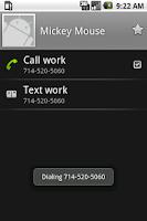 Screenshot of DTMFdial cost-saving dialer