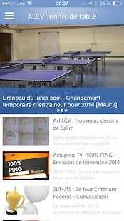 ALCV Tennis de Table Capture d'écran