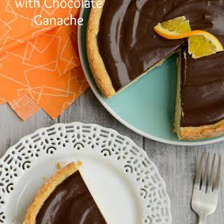 Orange Ricotta Tart with Chocolate Ganache.