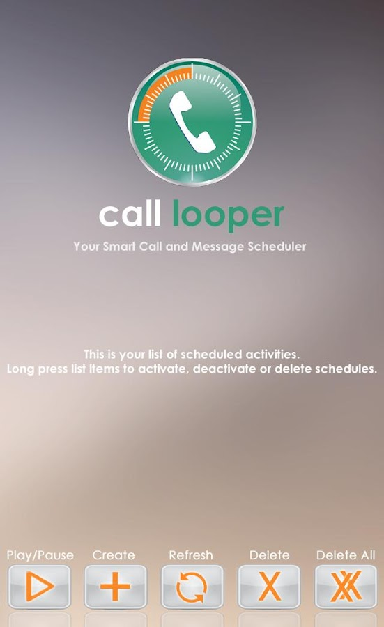 Call Looper Call Sms Scheduler- screenshot