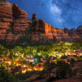 Sedona the Vortex by Adam Collins - Landscapes Travel ( enchantment resort, southwest, night )