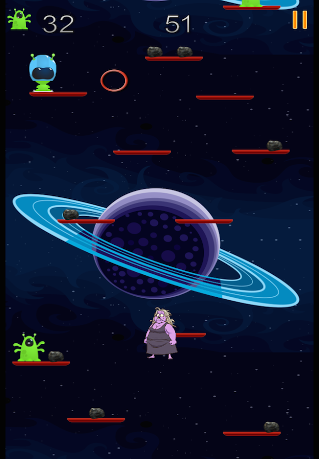 Zombie Granny vs. The Aliens- screenshot