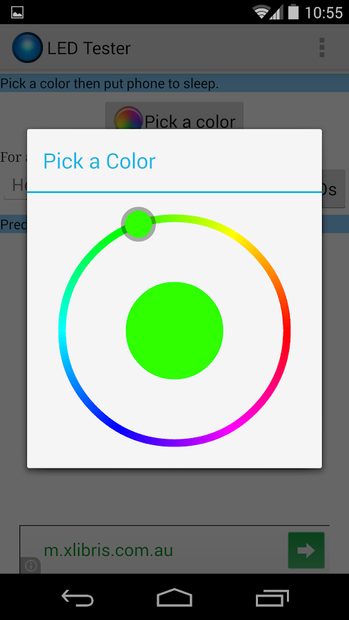 LED Color Tester - screenshot