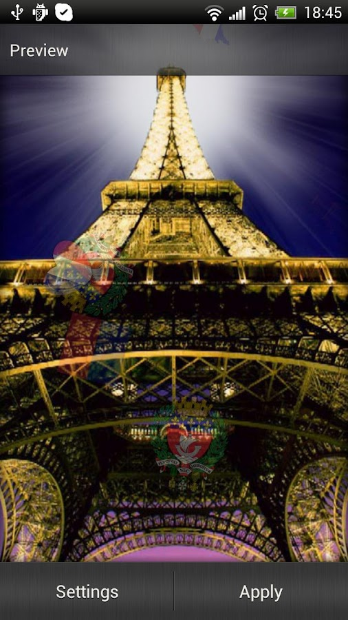 Eiffel Tower Live Wallpaper - screenshot