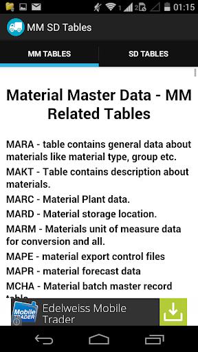 玩商業App SAP MM SD Tables免費 APP試玩
