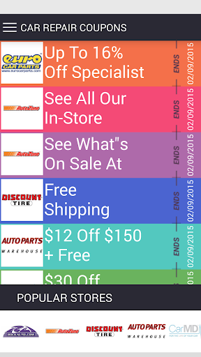 Car repair Coupons app (apk) free download for Android/PC/Windows screenshot
