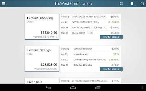 TruWest Credit Union- screenshot thumbnail
