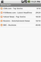 Screenshot of NewsCopier