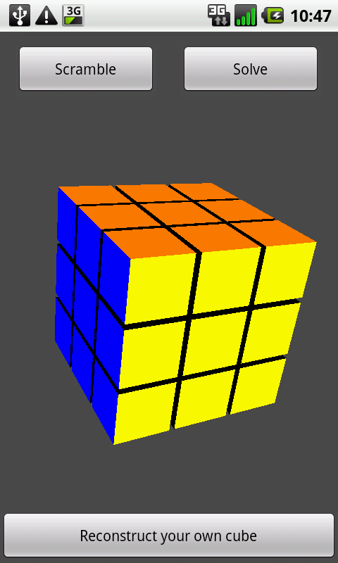 Rubiks Cube Solver - screenshot