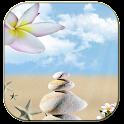 Stones on sand 3D icon