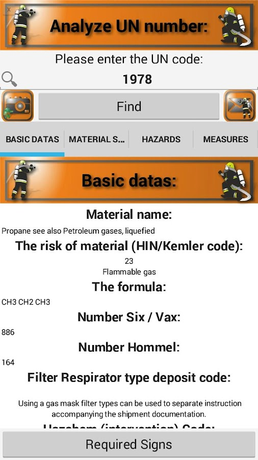 UN Number Trial Version- screenshot