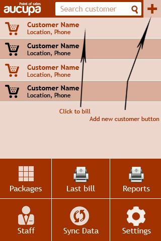 Payment collection & billing- screenshot