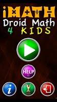 Screenshot of Droid Math 4 Kids Free