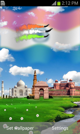 社交必備APP下載 Indian Flag with Music Live WP 好玩app不花錢 綠色工廠好玩App