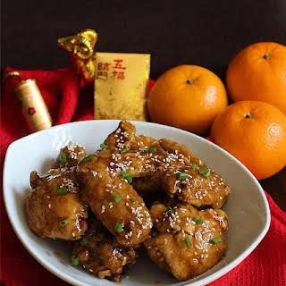 Orange Chicken Wings.