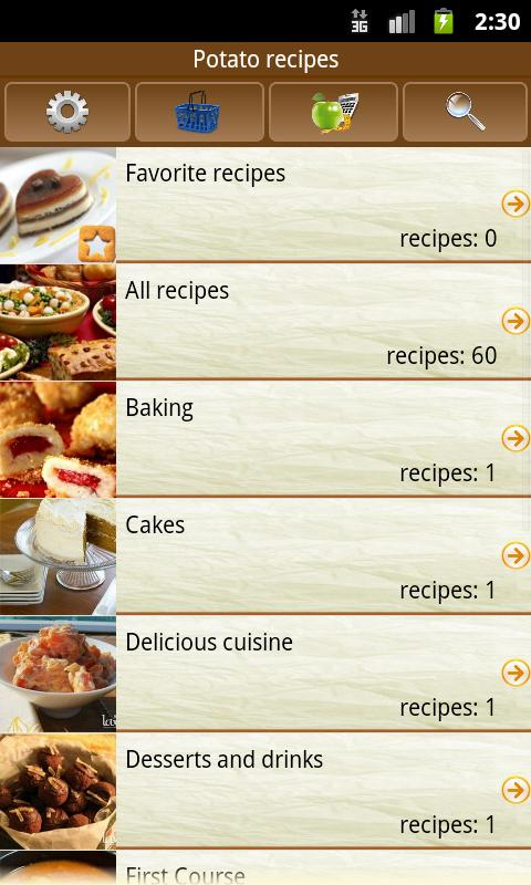 Potato recipes - screenshot