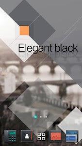 Elegant Black GOLauncher Theme v1.0