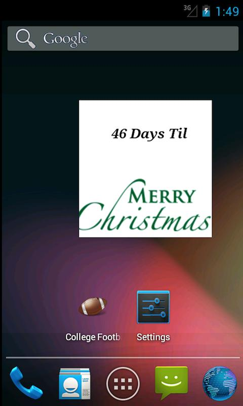 The Christmas Countdown Widget- screenshot