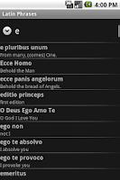 Screenshot of Latin Phrasebook