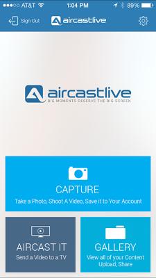 AirCastLive - screenshot