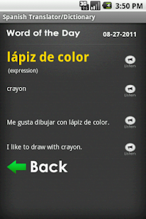 Talking Spanish Translator App- screenshot thumbnail