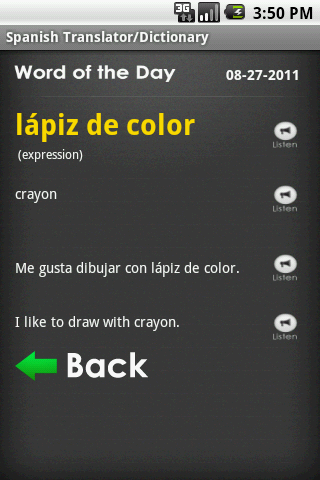 Spanish Tutor / Translator - screenshot