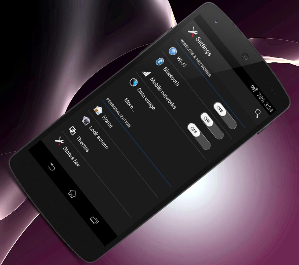 Dark theme gmail app - Z2 Cm 11 Mahdi Black Theme Screenshot
